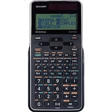 scientific calculators staples sharp elw516xgbsl write view 422 function 16 digit scientific calculator black
