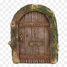 brown wooden door fairy door garden