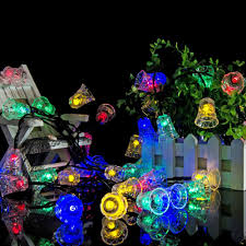 outside christmas lighting. LumiParty LED Bell Garland Solar Fairy String Lights Outside Christmas Outdoor For Party Decoration-in From Lighting H