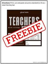 hershey candy bar wrapper teacher appreciation gift idea candy bar wrappers appreciation
