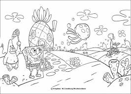 Small Picture SPONGEBOB Coloring Pages Sponge Bob And His Friends Within