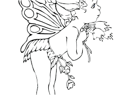 Gothic Fairy Colouring Pages Free Printable Coloring Detailed Skill