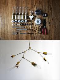 Lindsey Adelman industrial chandelier DIY kit. http://www.