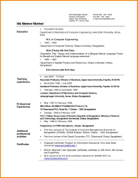 Professional Resume Format For Freshers Pdf Inspirational Resume