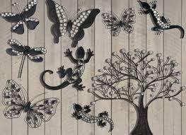 wall art design ideas grey exterior metal garden wall art