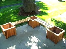 planter box bench wooden planter box bench plans garden set wood country image with appealing outdoor