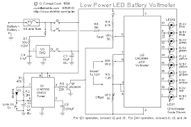 led battery voltmeter circuit schematic diagram data wiring 2008 electronics amplifier circuit diagram led battery voltmeter circuit schematic diagram