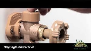 exterior water spigot repair. woodford outdoor faucet vacuum breaker repair or replacement installation - youtube exterior water spigot e