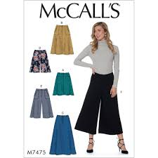 Culottes Pattern New Misses Flared Skirts Shorts And Culottes McCalls Sewing Pattern
