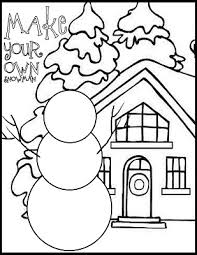 Free Printable Coloring Pages Snowman