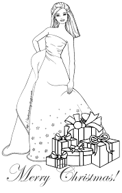 Barbie Coloring Pages Christmas | Coloring pages for Christmas ...