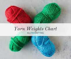 Yarn Weights Categories Chart Allfreeknitting Com