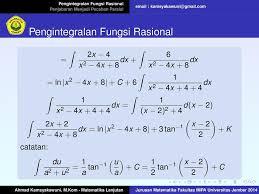 Di mana batasan dari bilangan. Pengintegralan Fungsi Rasional Pdf Free Download