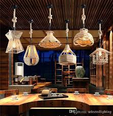 industrial bar lighting. Rope Pendant Modern Lighting Retro Industrial Design  Lamps Bulb Chandelier For Restaurant Bar
