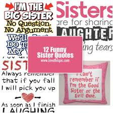 Funny Sibling Quotes Best 48 Funny Sister Quotes