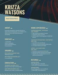 Creative Photographer Resume Template Teal Modern Experience ...