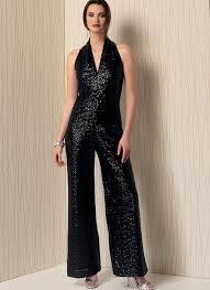 Jumpsuit Pattern Vogue Simple V48 Misses' Sleeveless WideLeg Jumpsuit Sewing Pattern Vogue