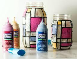diy stained glass mason jars
