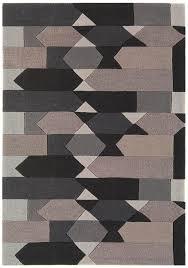 galaxy blocks charcoal grey rug