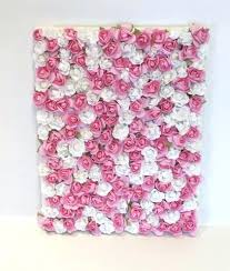 flower wall decor sold out nursery wall decor pink and white rose paper flower wall decor