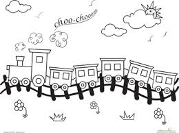 Small Picture Coloring Page Train Pages For Preschoolers Online Free Pdf Kids
