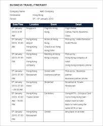 Travel Itinerary Sample Format Innovanza Co