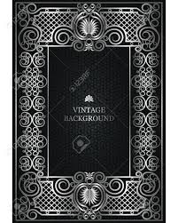 vector fl vine frame as a template for the book covers design old pages
