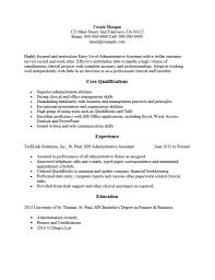 Administrative Assistant Resume Template 650844 Entry Level