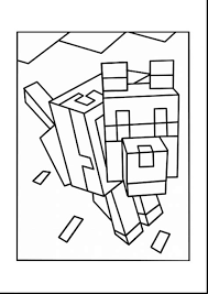 Minecraft Hero Brine Free Colouring Pages