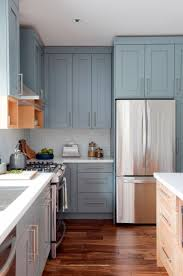 blue grey kitchen cabinets. Wonderful Grey Blue Grey Kitchen Cabinets Unique Gray Distressed And Wooden Floor  Traditional Design Elegant Your Inspiration Plain Throughout N