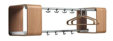 decorative wall mounted coat racks hook with modern stainless and wooden rack design for contemporary hooks