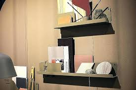 wall mounted office. Wall Mounted Office Shelves Desk Shelf Full Size Furniture Accessories Small Home Shelving Cream
