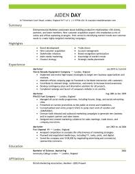 Pleasing One Employer Resume Template For Job Format Picture