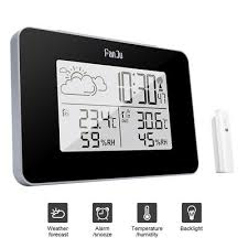 details about wireless weather station digital clock humidity outdoor thermometer sensor uk