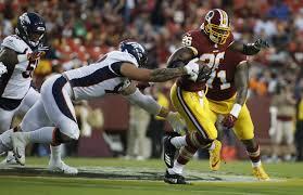 Adrian Peterson Depth Chart Adrian Peterson Impresses In Redskins Debut Vs Broncos