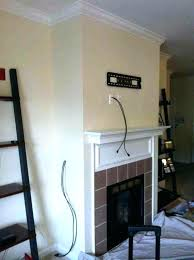 wall mounted tv where to put cable box wall mount tv cable box storage