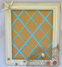 DIY summer cork board with a beach theme will be the perfect coastal decor  for your