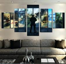 modern canvas wall art 5 pieces art counter strike game modern for home decor paintings on
