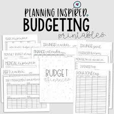 Meal Budget Planner Cleaning Planner Budget Planning Printable Meal Planner Basics Bundle 38 Printables Instant Download