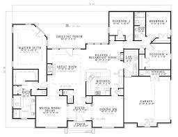 Bonaventure Place Ranch Home Plan D    House Plans and MoreRanch House Plan First Floor   D    House Plans and More