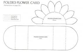 folding card template 1 of 2 pins daisy flower card template from jeannie see 2nd