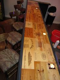Rustic Bar Top Epoxy Bar Top Finally Found A Project For All The Wine Boxes I