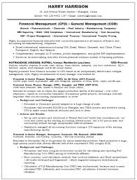 Resume And Cover Letter Cfo Resume Examples Sample Resume Example