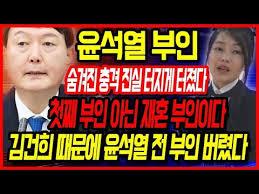 Image result for 윤석열 부인 재혼