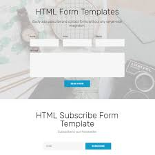Html Form Sample Design Free Bootstrap Template 2019