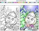 Раскраска для андроид маша и медведь