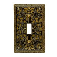 antique switch plates. Plain Antique Amerelle Filigree 1 Toggle Wall Plate  Antique Brass Throughout Switch Plates M