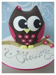 Baby Shower Owl Cake Toppers