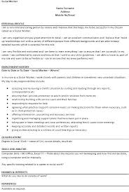 Sample Resumes For Social Workers Best Of Social Work Resume Examples Joggnature