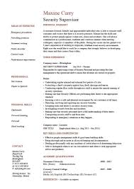 casino manager resumes security supervisor resume template cv example pdf doc